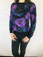 Кофта женская Hong 683 фиолетовая 44-48