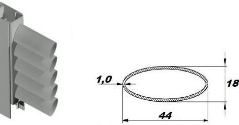 Ламели овальные (44*18*1,0) для изготовления ставней жалюзи