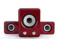 Компьютерные колонки акустика IS 12 220v Красные | акустические мощные колонки | музыкальная колонка, фото 1