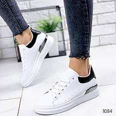 Кросівки жіночі білі. Кросівки жіночі з еко шкіри. Кеди жіночі. Мокасини жіночі. Кріпери жіночі, фото 3