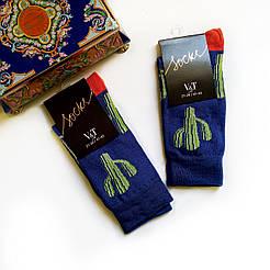 Женские высокие носки V&T socks с кактусами