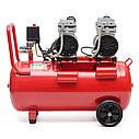Компрессор 50л, 2х0.75 кВт, 220В, 8атм, 270л/мин, малошумный, безмасляный, 4 цилиндра INTERTOOL PT-0023, фото 5