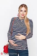 Стильный лонгслив для беременных и кормящих в полоску р. 42-50 ТМ Юла Мама POPPY NR-10.031