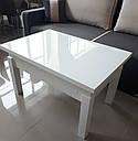 Стол трансформер Флай белый со стеклом 04_123, журнально-обеденный, фото 9