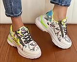 Кросівки Inshoes білі  + принт, фото 3