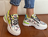 Кросівки Inshoes білі  + принт, фото 5