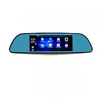 """Зеркало видеорегистратор D35 GPS WiFI Android 7"""" с камерой заднего вида"""