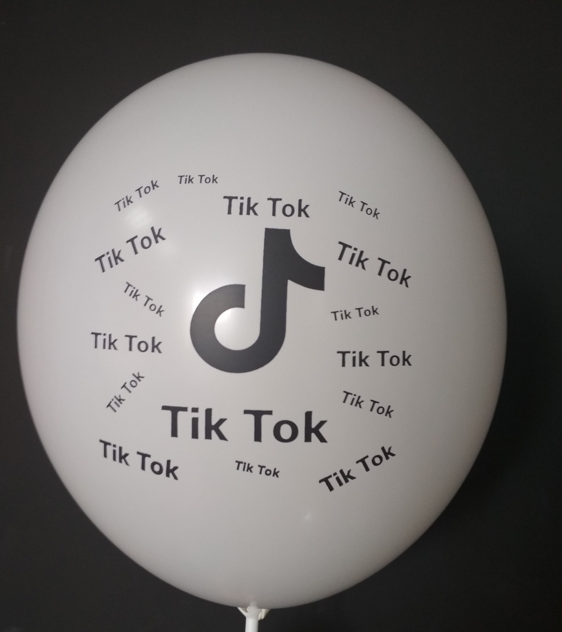 "Латексный шар с рисунком Tik Tok белый 002 12 ""30см Belbal ТМ"" Star """