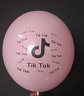 """Латексна кулька з малюнком Tik Tok рожевий 004 12"""" 30см Belbal ТМ """"Star"""""""