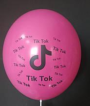 """Латексна кулька з малюнком Tik Tok фуксія 010 12"""" 30см Belbal"""