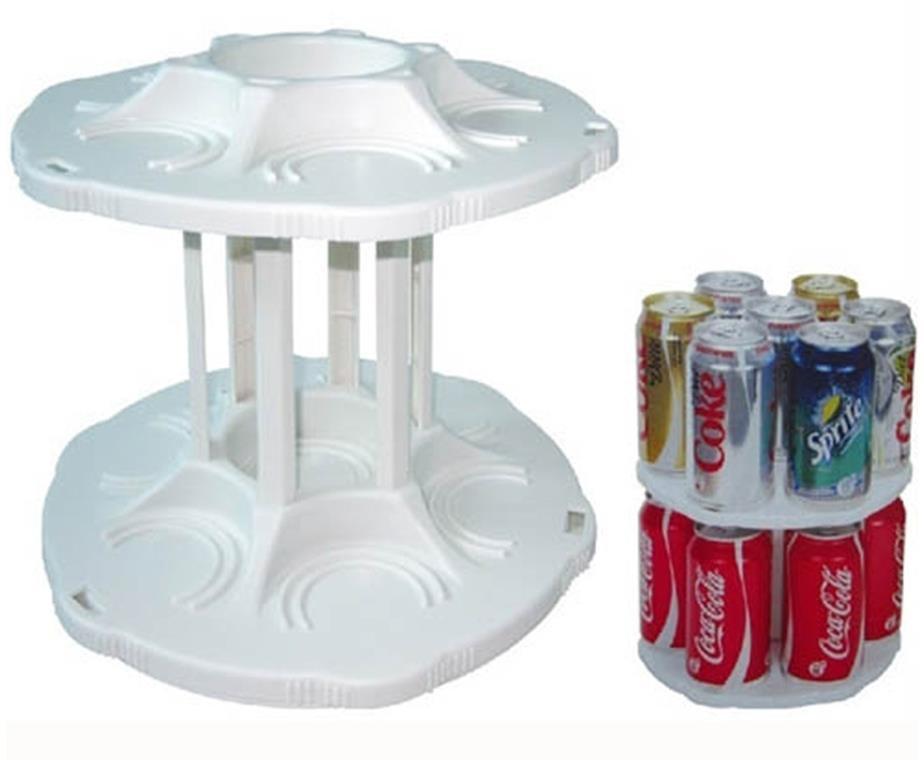 Органайзер для холодильника CAN TAMER   вращающаяся подставка для банок и консерв