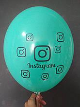"""Латексный шар с рисунком Instagram бирюзовый 005 12 """"30см Belbal ТМ"""" Star """""""