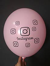 """Латексный шар с рисунком Иnstagram розовый 004 12 """"30см Belbal ТМ"""" Star """""""