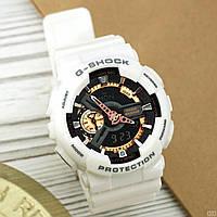 Часы CASIO G-shock GA-110 (касио джи-шок Белые с Черным) Модные, Спортивные, Мужские/ Женские годинник білий