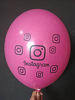"Латексна кулька з малюнком Instagram фуксія 010 12"" 30см Belbal ТМ ""Star"""