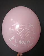 """Латексна кулька з малюнком Likee рожевий 004 12"""" 30см Belbal ТМ """"Star"""""""