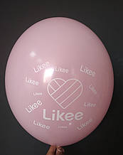 "Латексный шар с рисунком Likee розовый 004 12 ""30см Belbal ТМ"" Star """