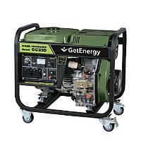 Генератор дизельный 3,0 кВт, max 3.3 кВт. ручной стартер GetEnergy (Корея)