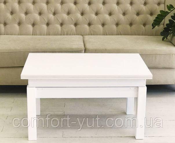 Стол трансформер Флай  белый, журнальный обеденный