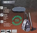 Пилосос Kassel 5078B, Колбовый 3л ( 3000W ) Без мішка, для сухого прибирання, побутової, для дому, фото 8