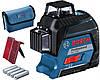 Лазерный 3D уровень-нивелир Bosch GLL 3-80+сумка, фото 3