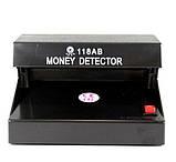 Ультрафіолетовий УФ детектор достовірності банкнот валют UKC 118AB Battery, фото 6