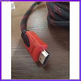 HDMI-HDMI кабель позолочений посилена обмотка 10 м, фото 5
