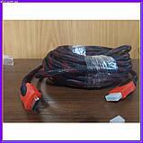HDMI-HDMI кабель позолочений посилена обмотка 10 м, фото 4