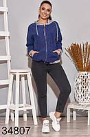 Весенняя женская куртка с капюшоном р. 50-52, 54-56, 58-60, 62-64
