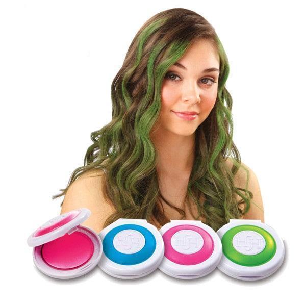 Цветная пудра для волос Hot Huez   Мелки для волос Хот Хьюз
