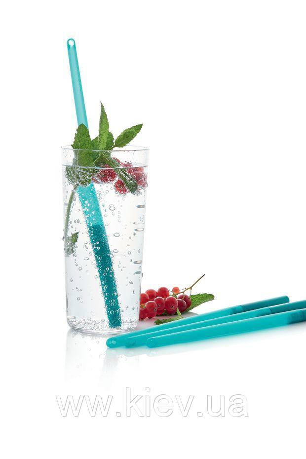 Многоразовая трубочка для питья ЭКО+ голубая Tupperware (Оригинал)