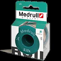"""Лейкопластир медичний в рулонах Medrull """"Silk"""", розмiр 1,25 см х 500 см."""