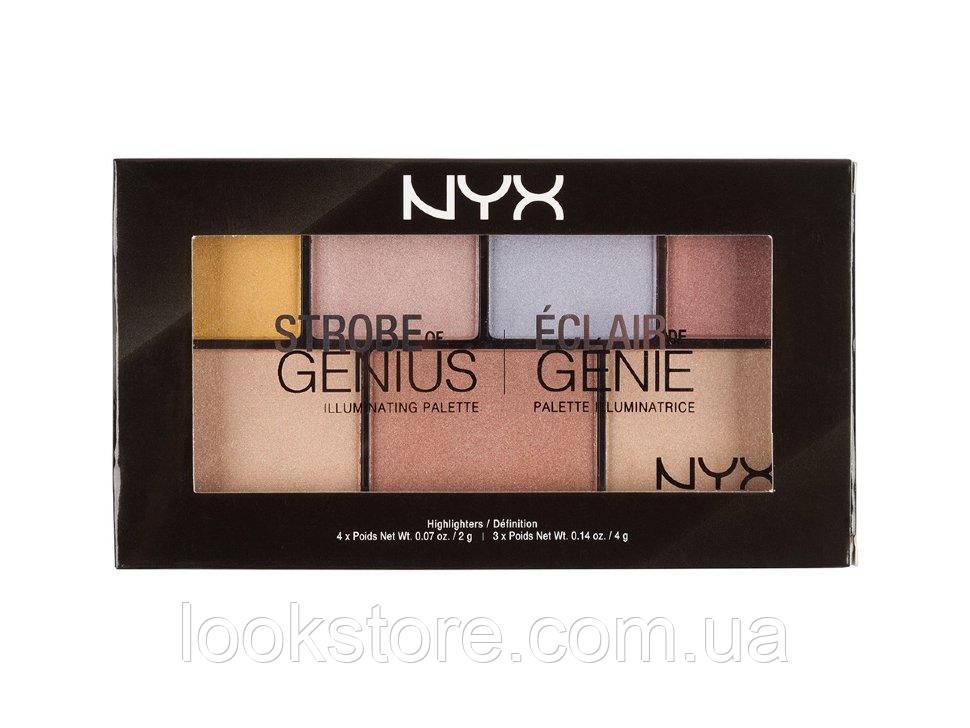 Палетка для стробинга NYX Strobe Of Genius Illuminating Palette