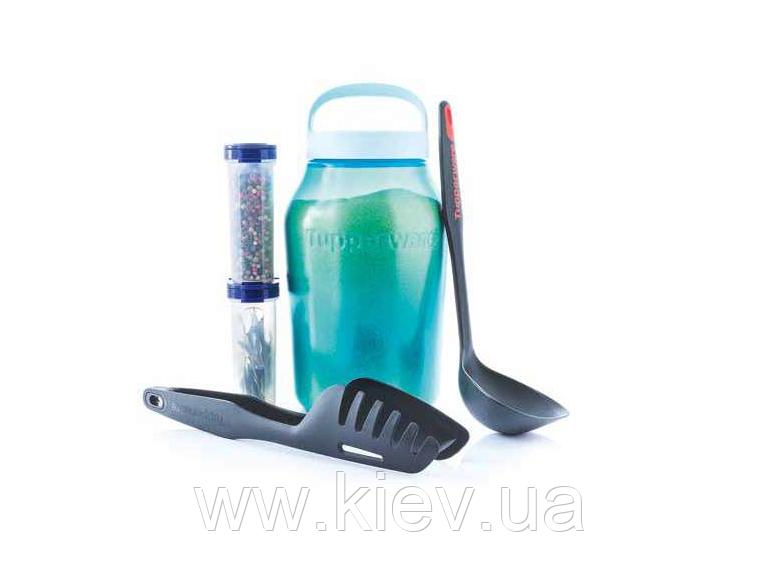 Набор:Чудо-банка 3 л, половник, мастер-щипцы и набор для специй (270 мл), Tupperware