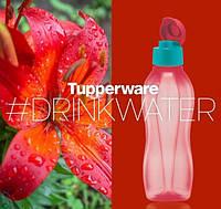 Эко-бутылка (750 мл) с клапаном ягодная, многоразовая бутылка для воды Tupperware (Оригинал)