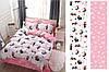 Двуспальный комплект постельного белья 180*220 сатин (12465) TM КРИСПОЛ Украина - Фото