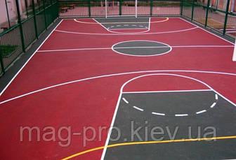 Бесшовные резиновые покрытия для спортивных площадок (из чёрной резиновой крошки толщина 10 мм), фото 3