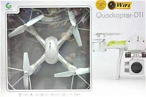 Квадрокоптер Quadcopter D11 WI-FI з можливістю установки камери | літаючий дрон | коптер