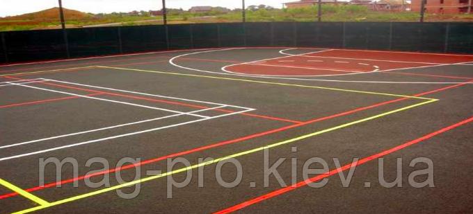 Бесшовные резиновые покрытия для спортивных площадок (из чёрной резиновой крошки толщина 10 мм)