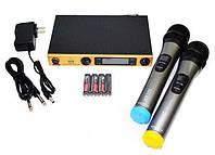 Беспроводная радиосистема на два микрофона AKG KM-388 | беспроводной караоке микрофон, фото 1