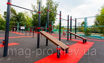 Бесшовные резиновые покрытия для спортивных площадок (из чёрной резиновой крошки толщина 10 мм), фото 2