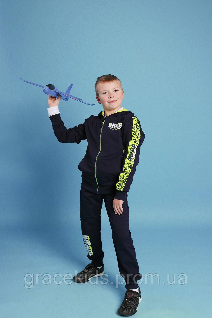 Яркие детские спортивные костюмы для мальчиков GRACE,разм 116-146 см,95% холопок