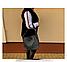 Женская итальянская натуральная кожаная сумка бежевая 24х26х13, фото 3