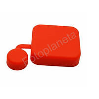 Крышка защитная  на бокс (силиконовая, красная) для GoPro 3+, 4