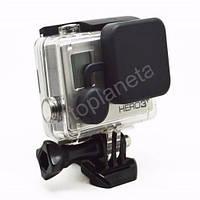 Крышка защитная  на бокс (силиконовая, черная) для GoPro 3+, 4