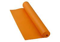 Классический многофункциональный коврик для йоги MS 1846-1 Оранжевый | йогамат | йога мат | коврик для фитнеса, фото 1