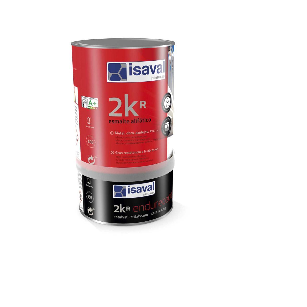 Акрил-полиуретановая универсальная 2-компонентная эмаль-лак 2Кр ISAVAL, прозрачная база, 0,75л