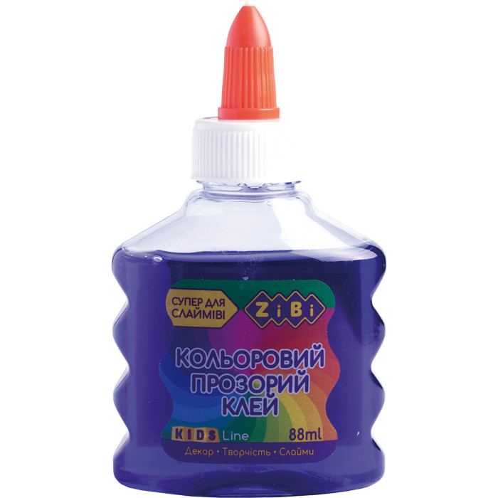 Клей Zibi ПРОЗОРИЙ (для слаймов) фіолетовий, 88 мл