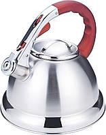 Чайник со свистком из нержавеющей стали Benson BN-710 (3 л), нейлоновая ручка, индукция | свистящий чайник, фото 1