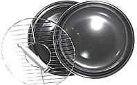 Сковорода гриль-газ Benson BN-801 с эмалированным покрытием | сковородка для гриля на газу эмаль Бенсон, фото 1